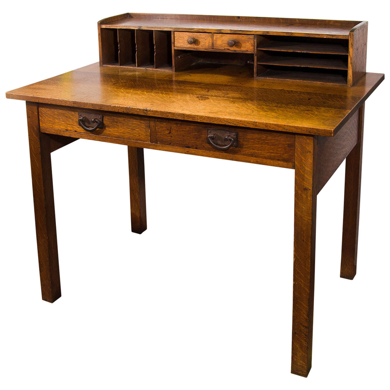 stickley writing desk Made from solid white oak, in a classic arts and crafts style, this made in america library desk will help you bring harmony and function to all of your home's decor.