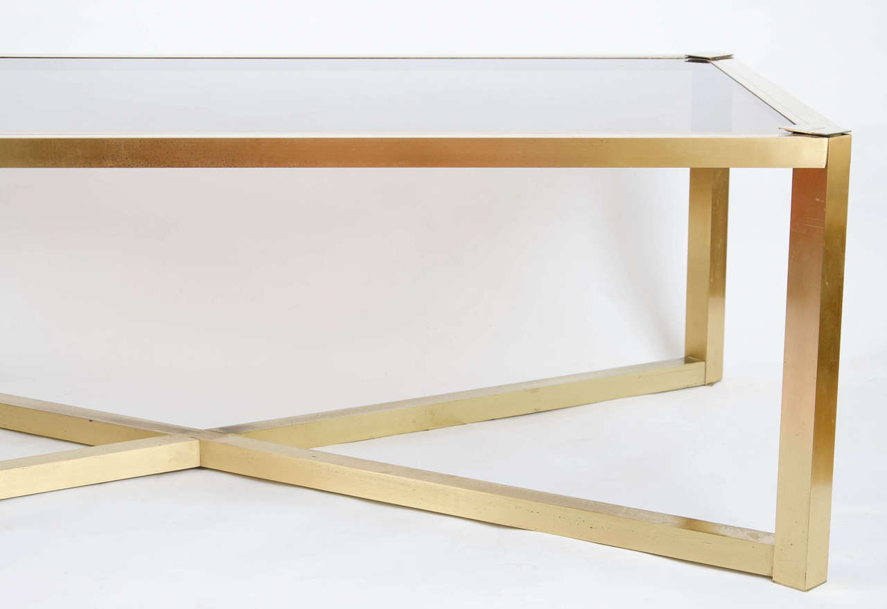 1950s Italian Brass Coffee Table At 1stdibs