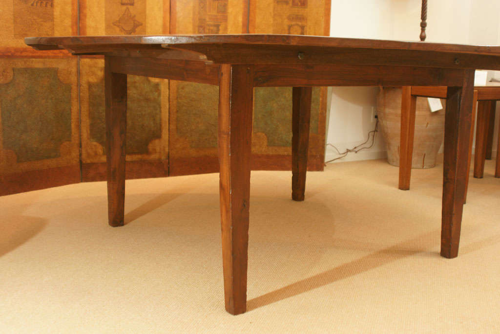 large 72 round english farmhouse dining table at 1stdibs