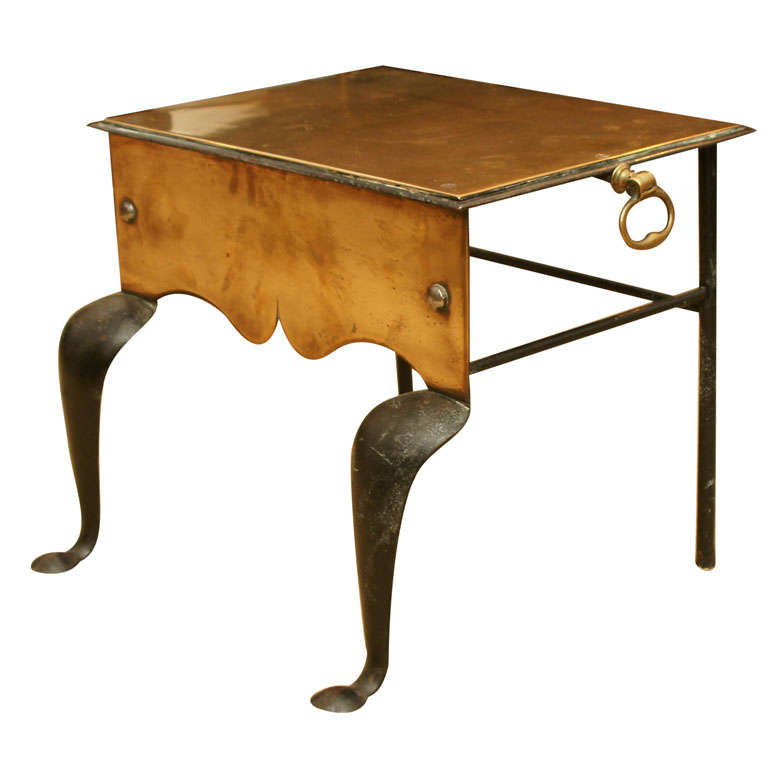 19th Century Brass Footman Side Table At 1stdibs