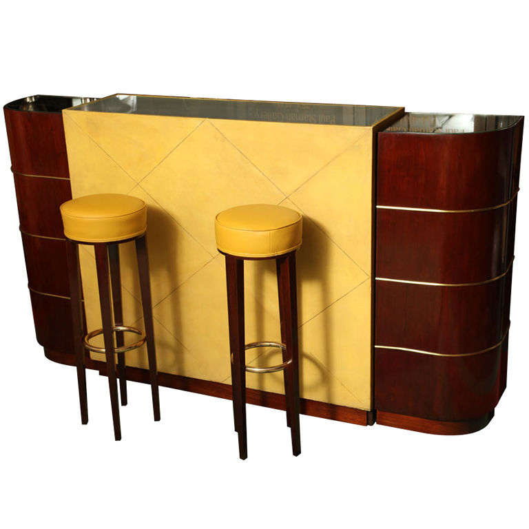 Exceptional French Art Deco Bar By Andre Arbus For Sale At