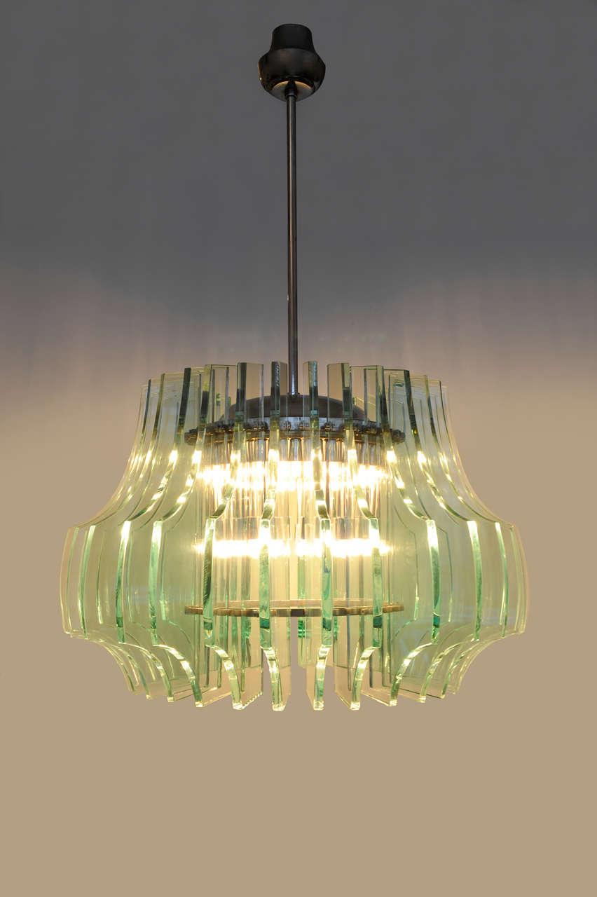 fontana arte chandelier by max ingrand at 1stdibs. Black Bedroom Furniture Sets. Home Design Ideas