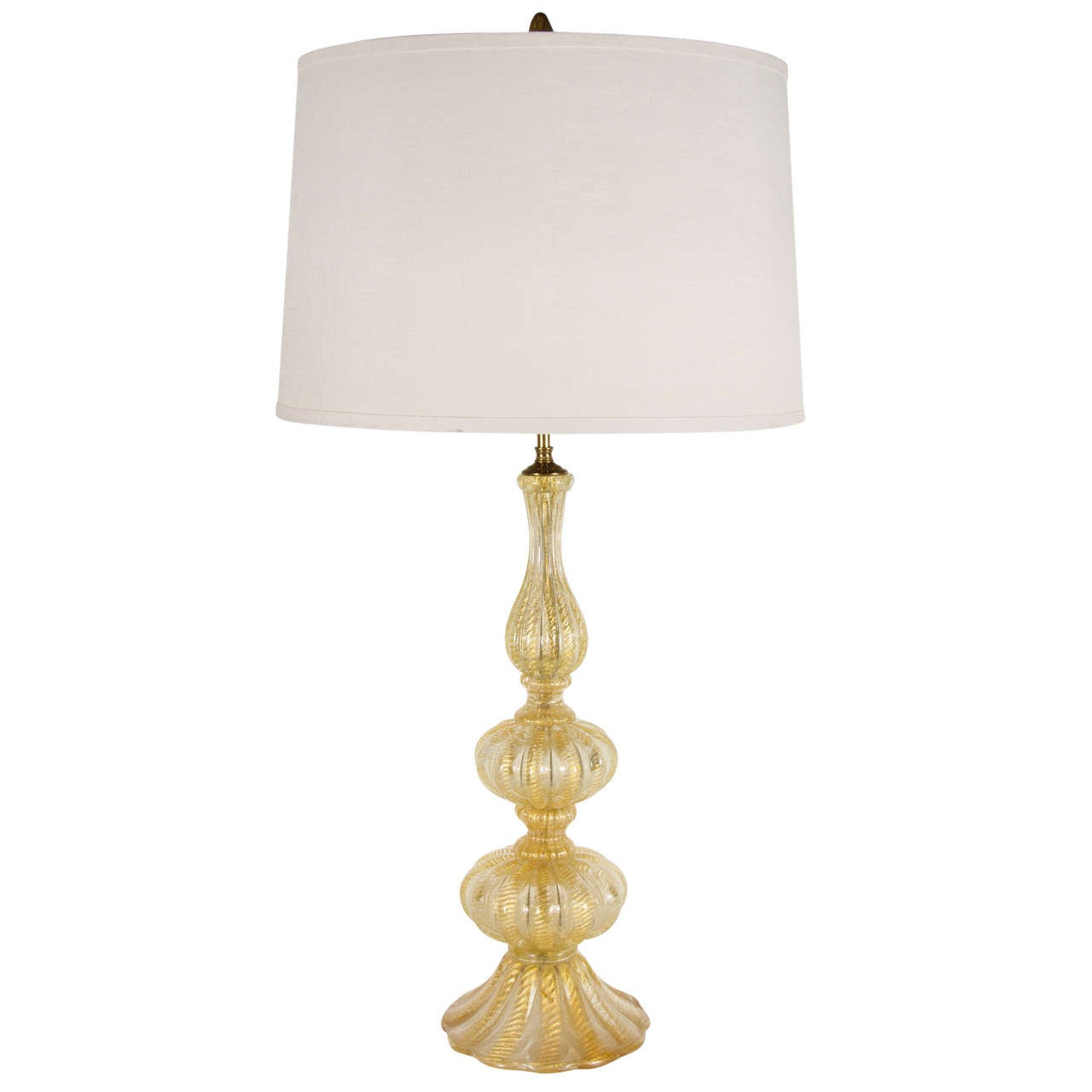 Mid-Century Modernist Hand-Blown Table Lamp by Barovier e Toso For Sale