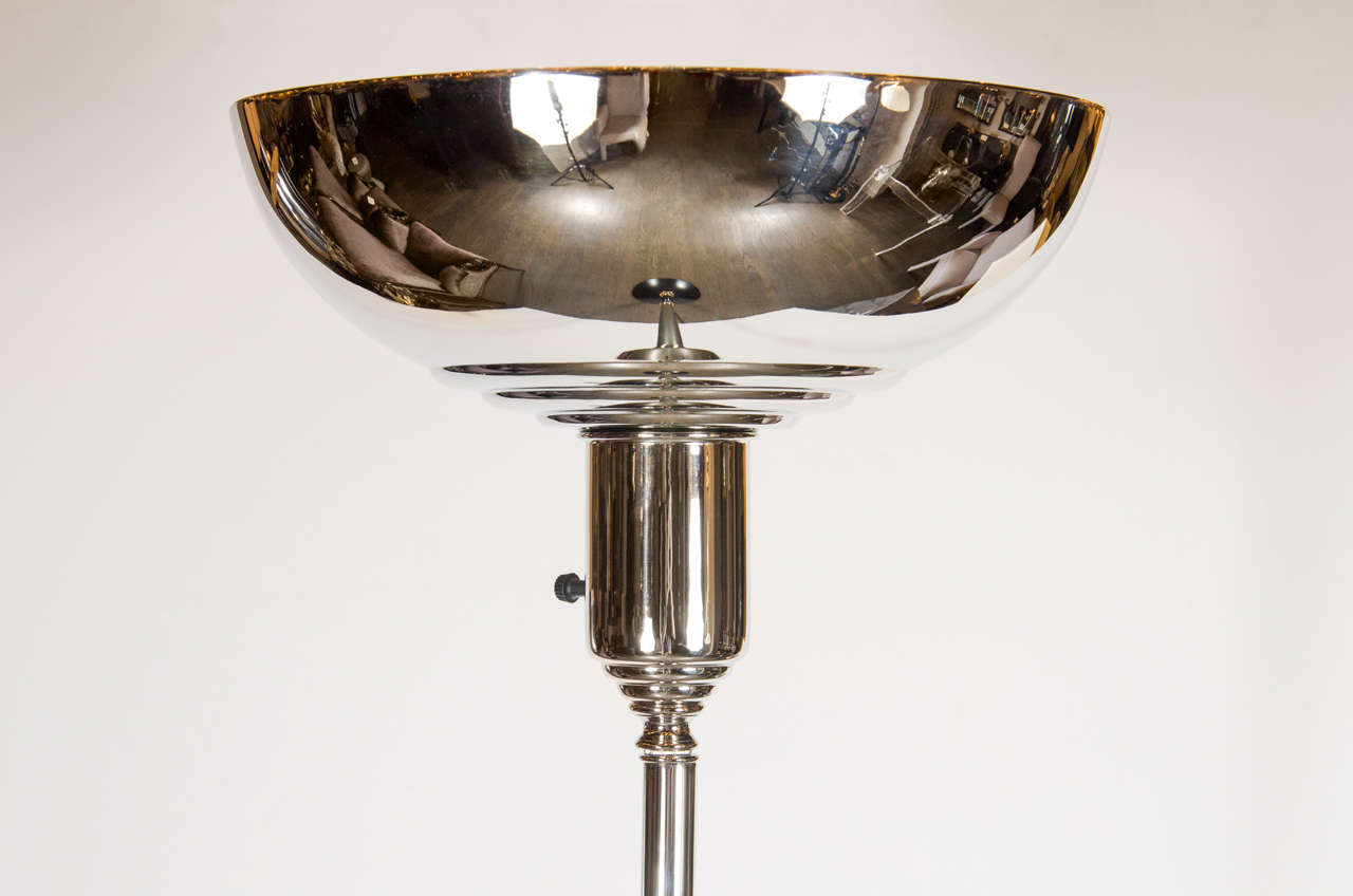 Exceptional Art Deco Machine Age Torchiere In The Manner Of Walter Von Nessen For Sale At 1stdibs