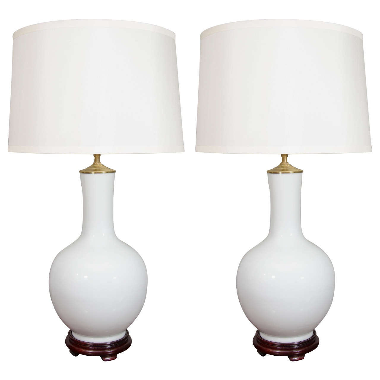 White porcelain lamps, 20th century