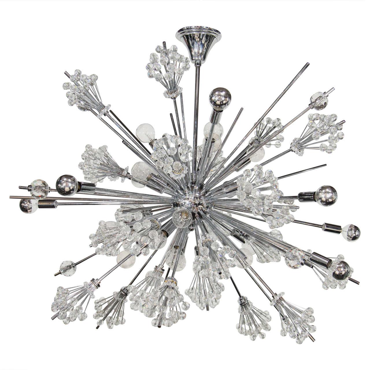Exceptional sputnik chandelier by lobmeyr featuring fine for Sputnik chandelier
