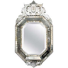 Octagonal 20th Century Venetian Mirror