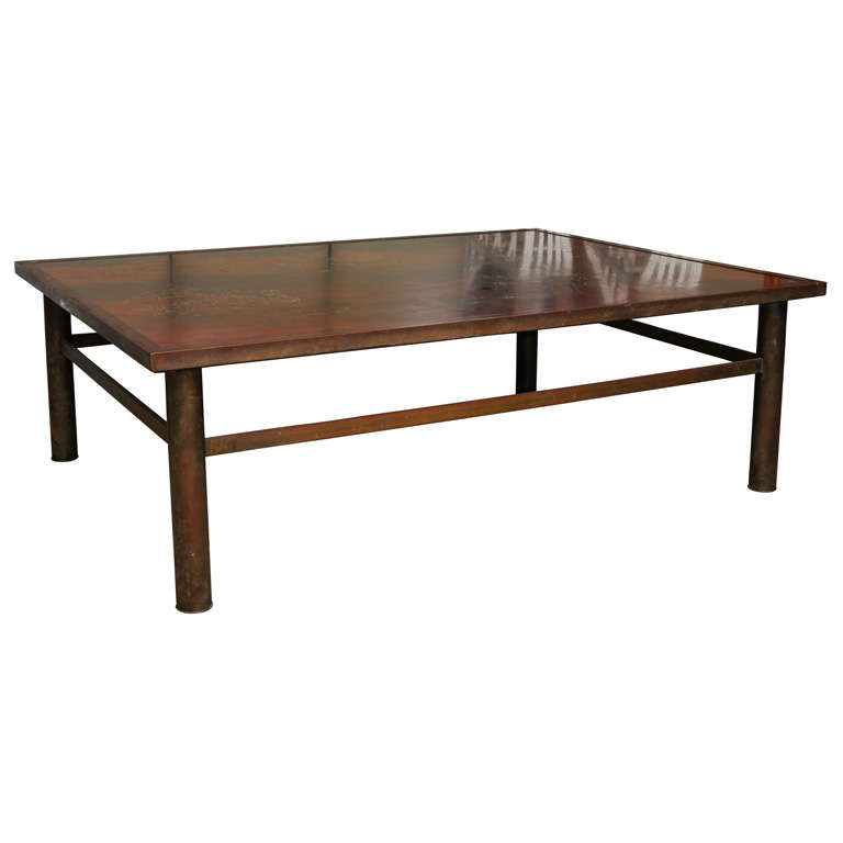 Philip laverne bronze coffee table at 1stdibs Bronze coffee tables