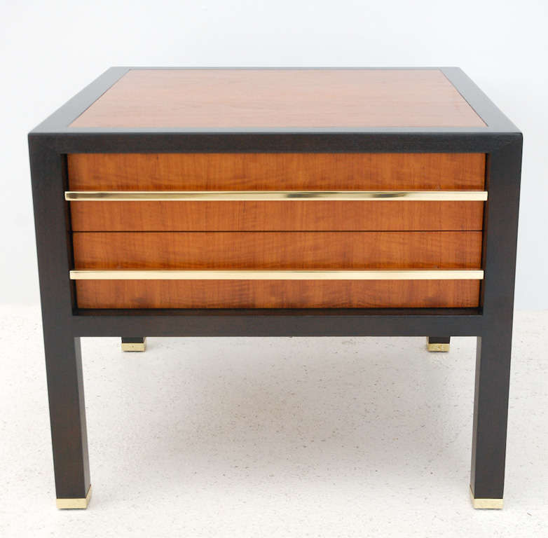 American Two-Drawer Side Table by Michael Taylor For Sale