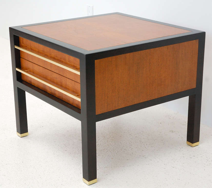 Two-Drawer Side Table by Michael Taylor In Excellent Condition For Sale In Los Angeles, CA