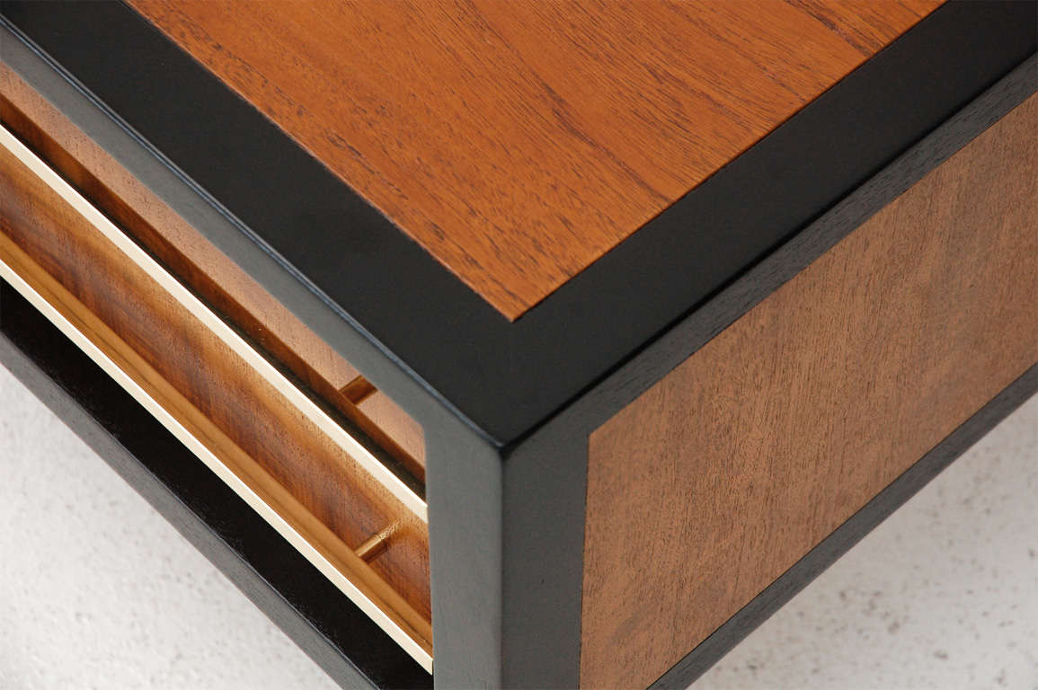 Mid-20th Century Two-Drawer Side Table by Michael Taylor For Sale