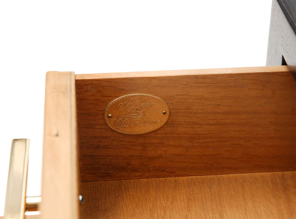 Wood Two-Drawer Side Table by Michael Taylor For Sale