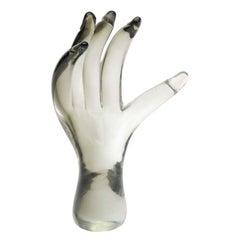 Seguso Glass Hand Sculpture