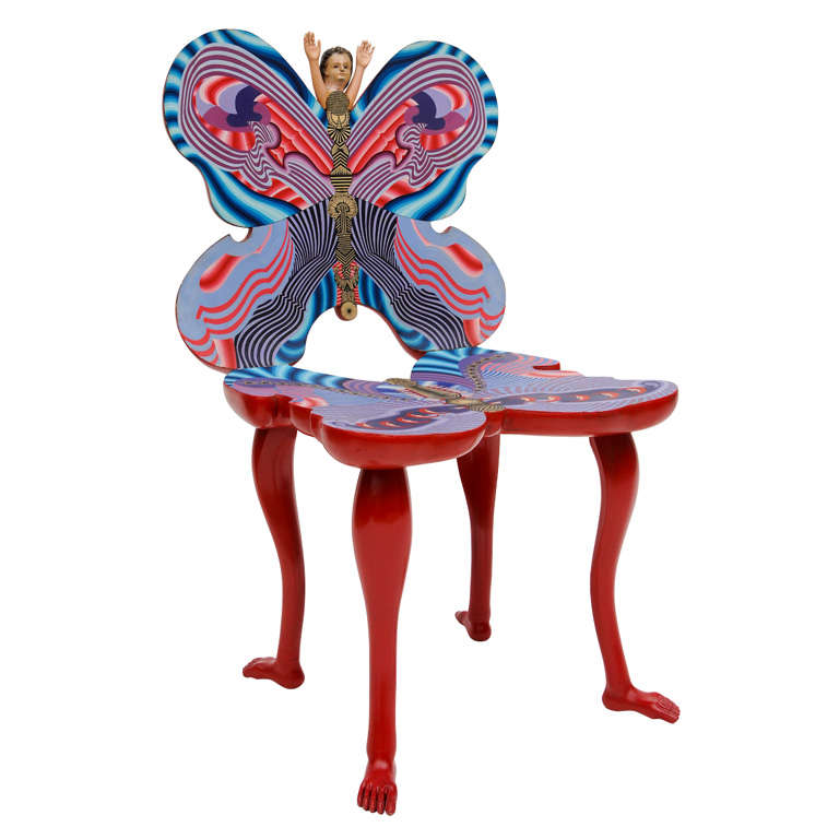 Pedro Friedeberg Mano Mariposa Chair For Sale