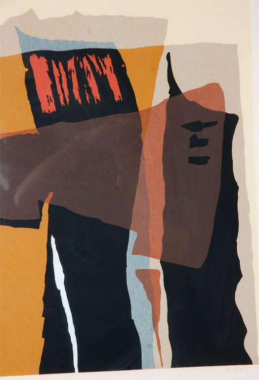 Abstract 1960's Lithograph 2