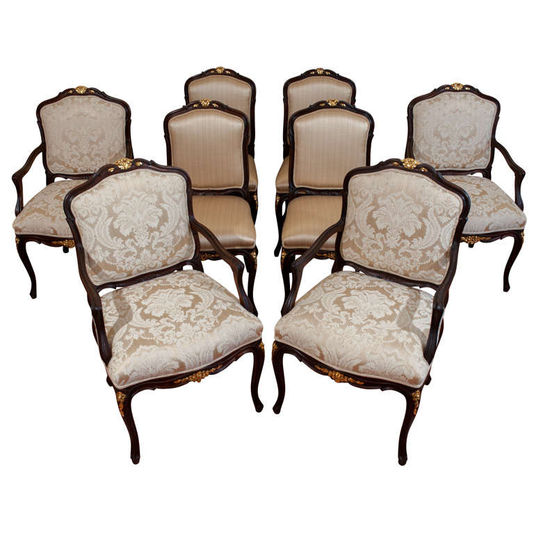 this set of eight walnut dining room chairs is no longer available