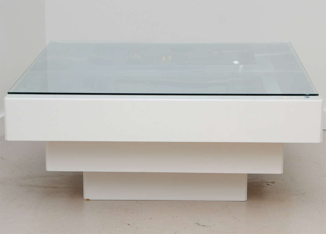 Infinity Coffee Table Retro White Lucite Infinity Coffee Table At 1stdibs