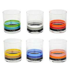 Pierre Cardin 1970's low ball glasses