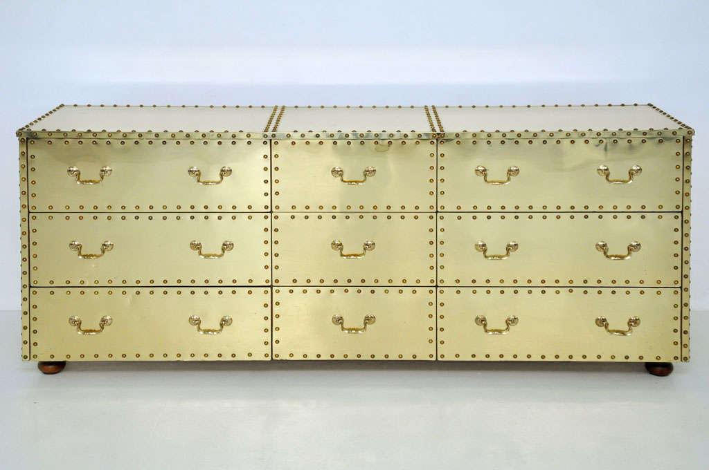 Sarreid Brass-Clad Dresser 3
