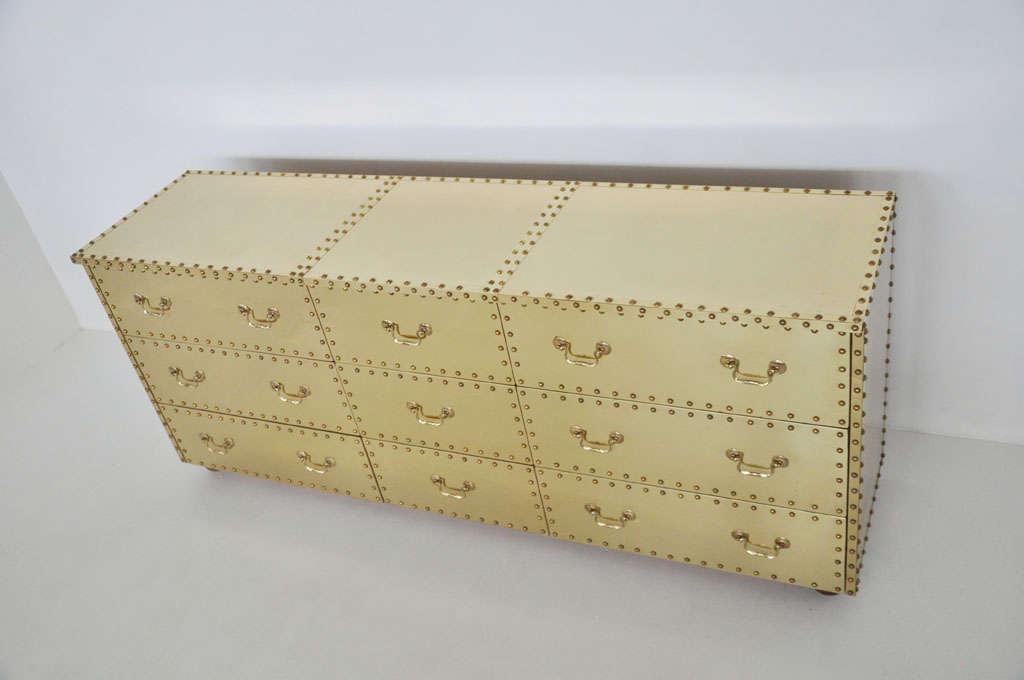 Sarreid Brass-Clad Dresser 7