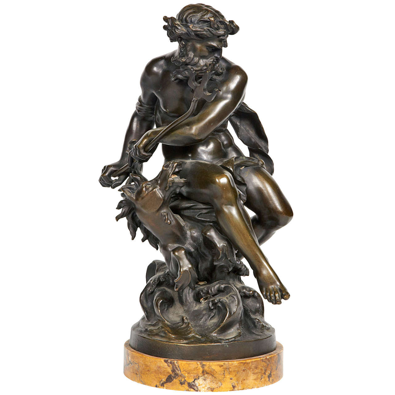 Late 19th Century Poseidon Statue Bronze Patina Of Origin At 1stdibs