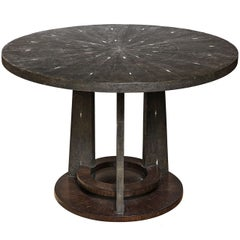 Shagreen Dining Room Table With Palm Wood Base