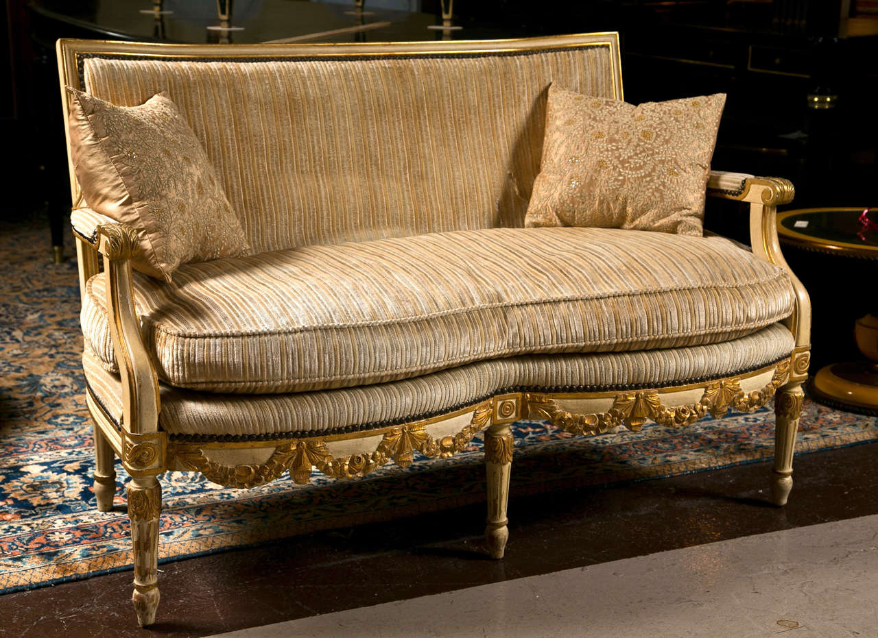 French louis xiv style canape sofa settee image 2 for Canape french