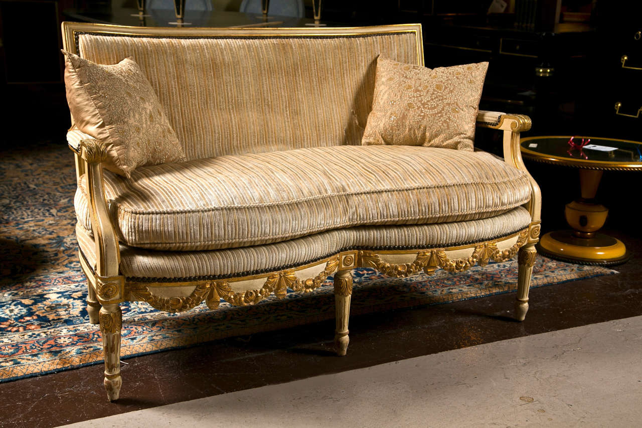 French louis xiv style canape sofa settee at 1stdibs for Canape in french