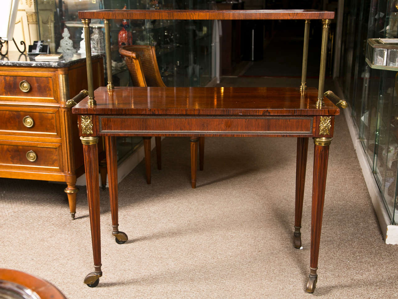 French Rosewood Serving Table 7