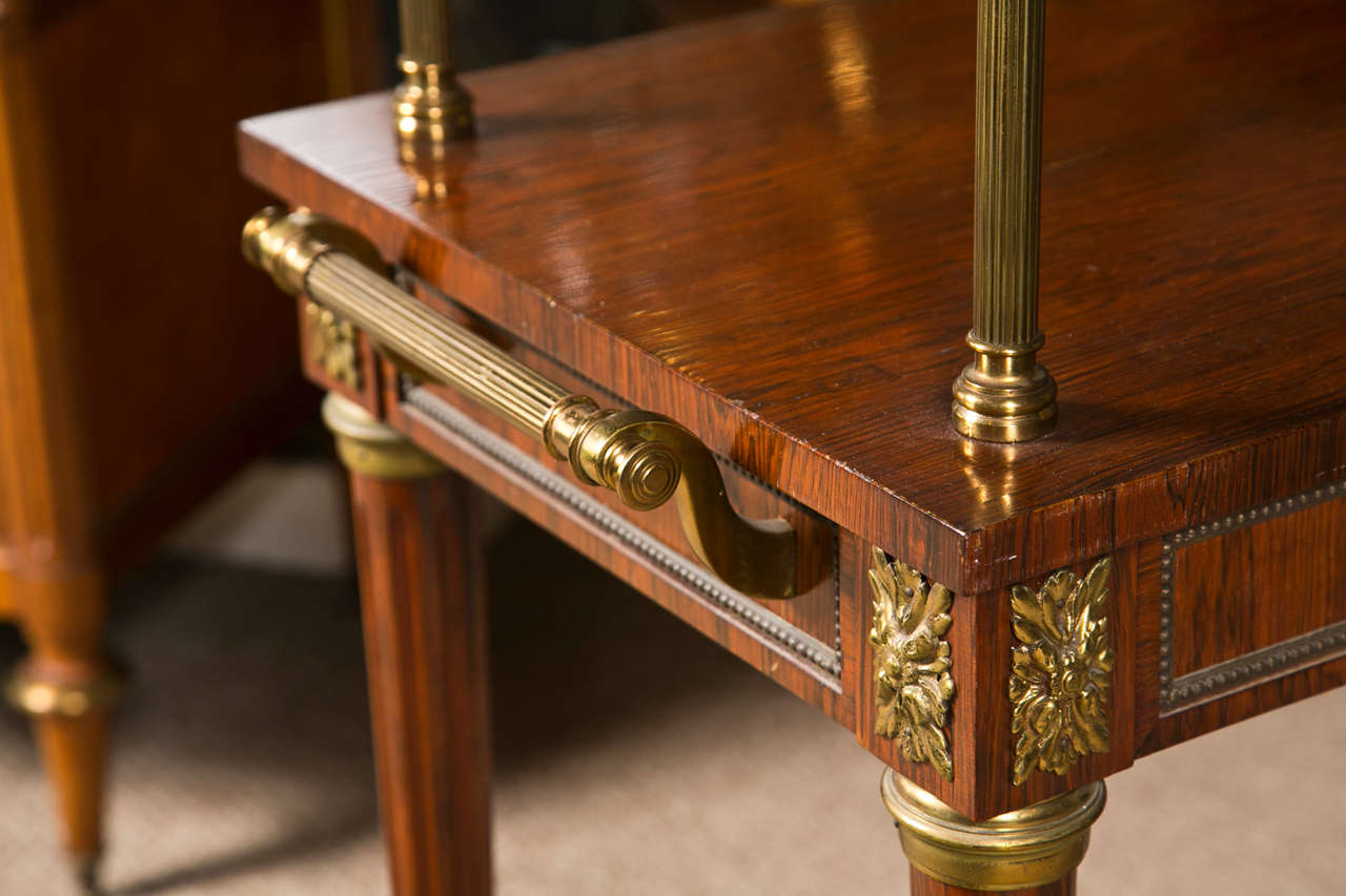 French Rosewood Serving Table 8