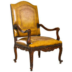 English Georgian Walnut Armchair