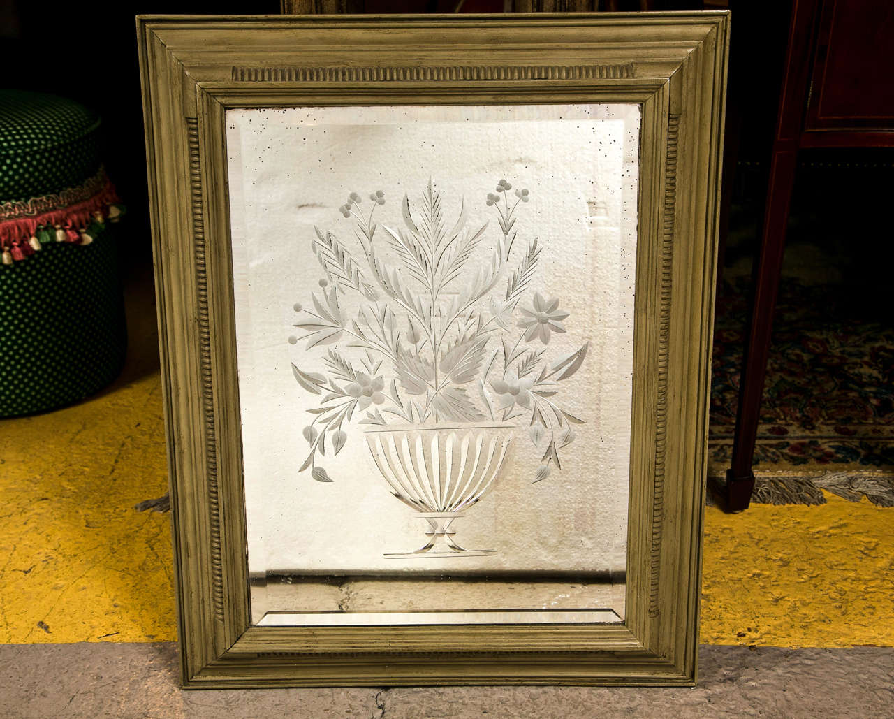 Decorative framed etching mirror for sale at 1stdibs for Decorative wall mirrors for sale