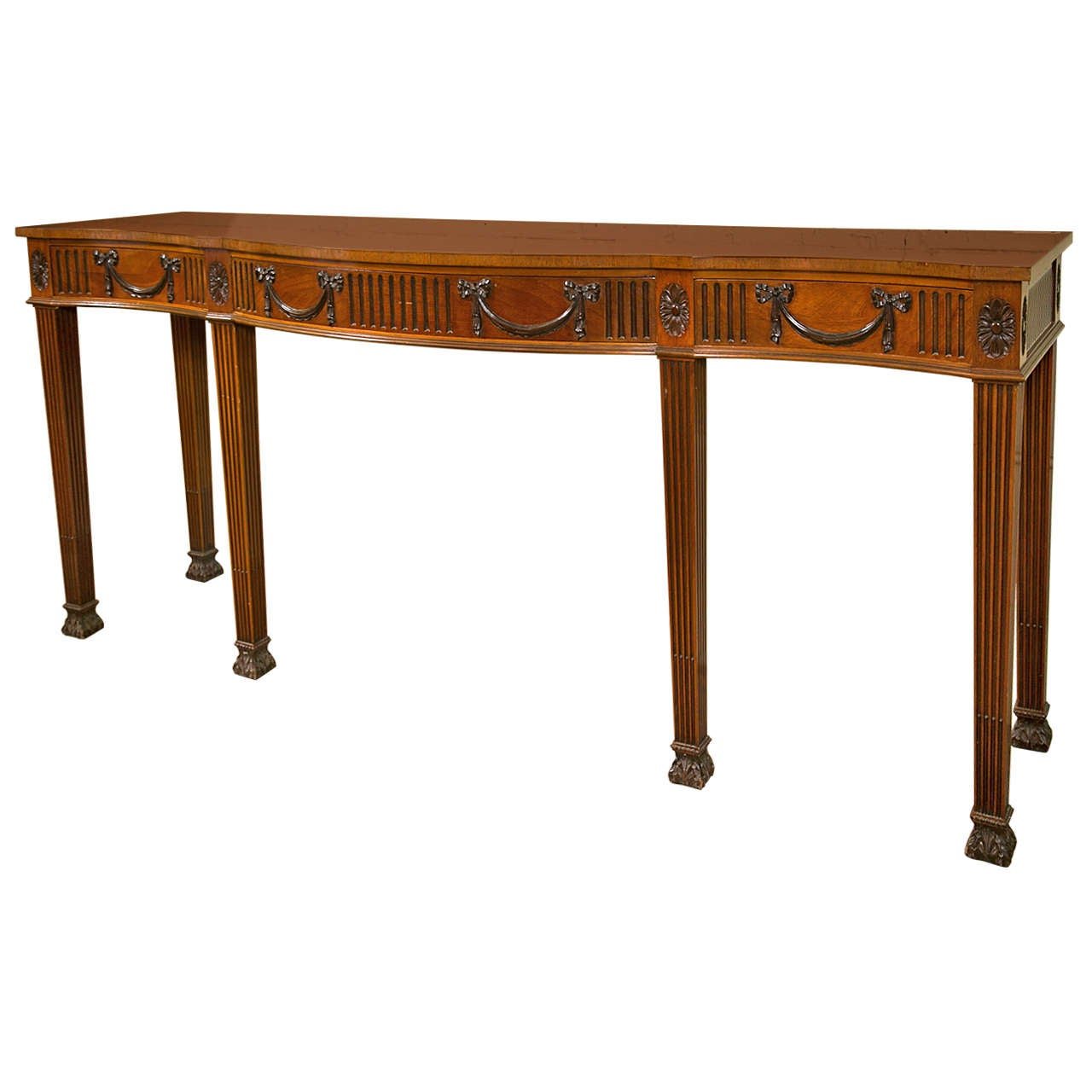 schmieg and kotzian georgian style mahogany console or serving