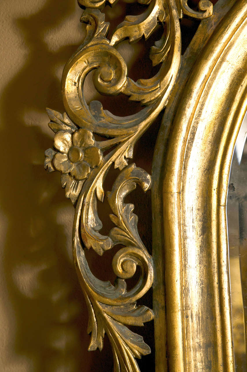 19th century monumental french rococo floor mirror at 1stdibs for Floor mirror italian baroque rococo style in lacquer finish