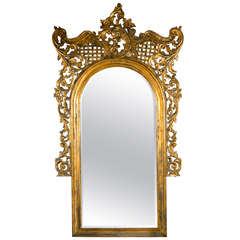 19th Century Monumental French Rococo Floor Mirror