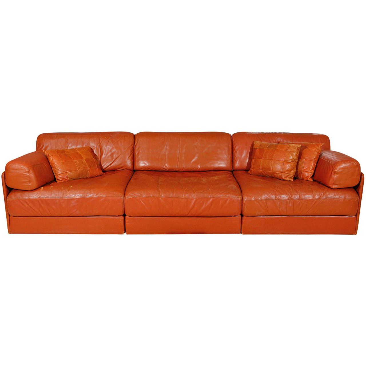 Modular Leather Sleeper Sofa By De Sede At 1stdibs