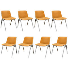 Set of 8 Vintage German Stacking Chairs
