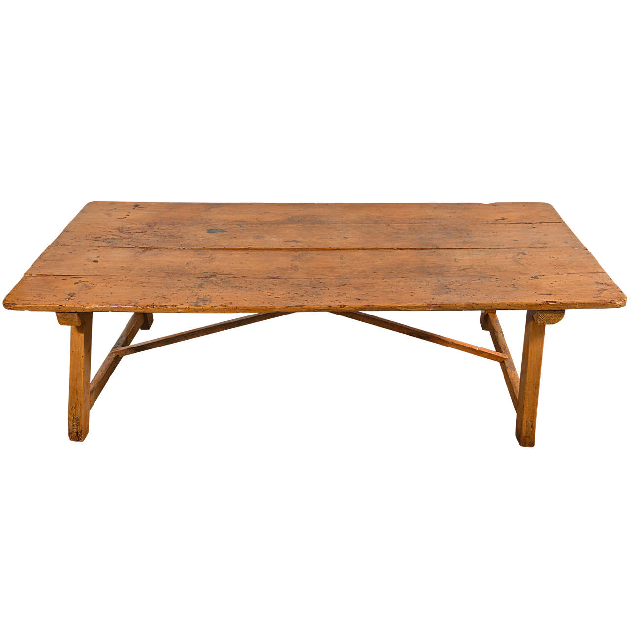 19 Th C Spanish Pine Coffee Table At 1stdibs