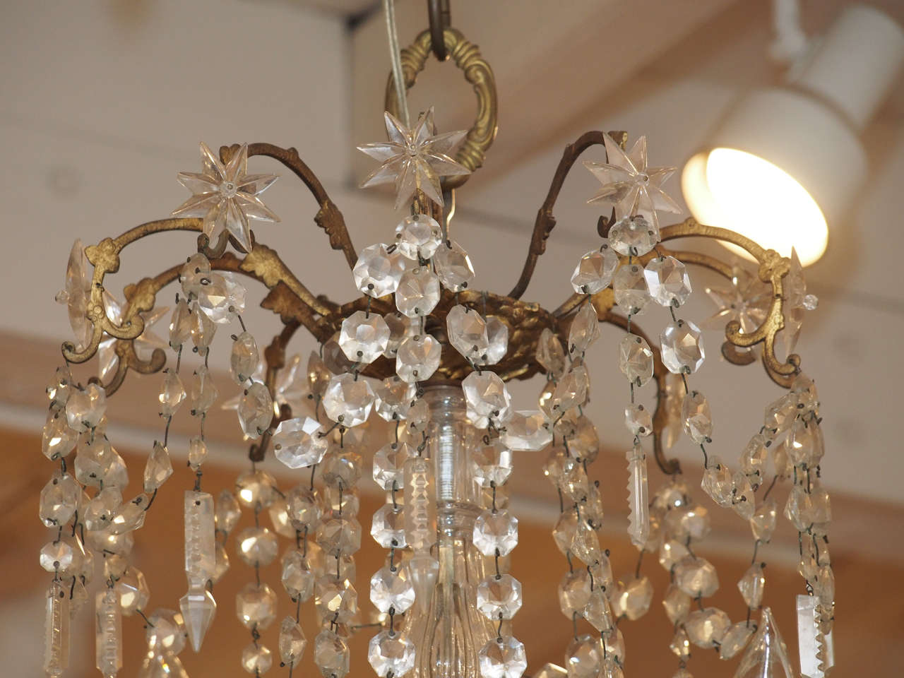 French Charles X Bronze and Crystal Chandelier with Eighteen Arms 3