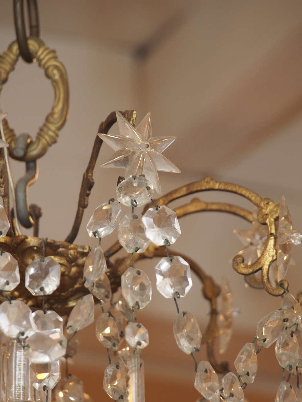 French Charles X Bronze and Crystal Chandelier with Eighteen Arms 4