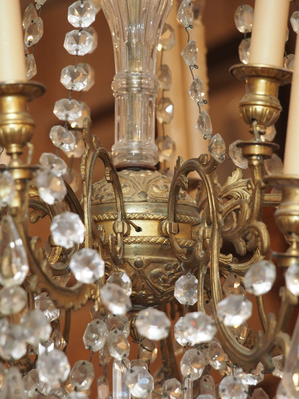 French Charles X Bronze and Crystal Chandelier with Eighteen Arms 6