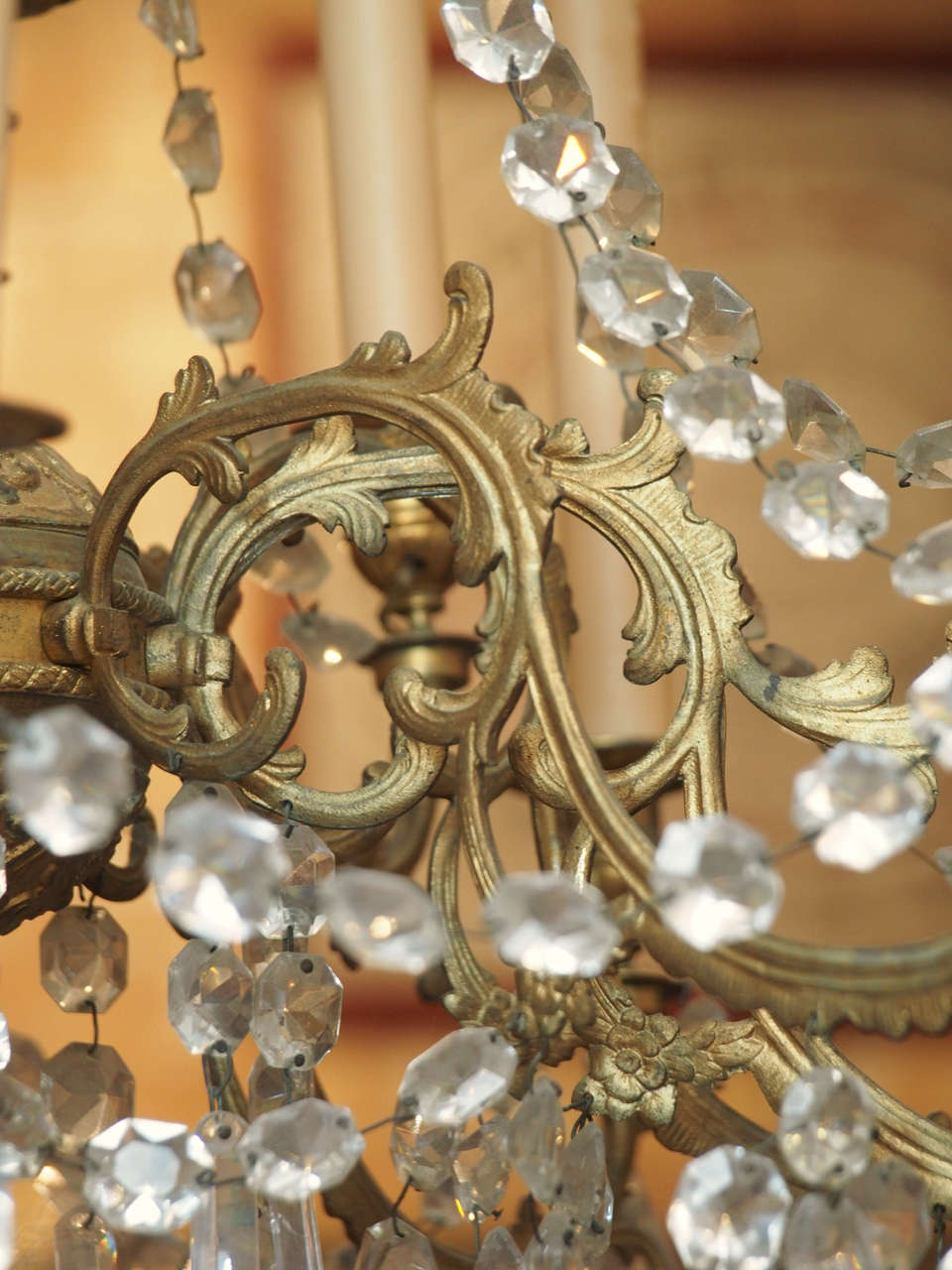 French Charles X Bronze and Crystal Chandelier with Eighteen Arms 8