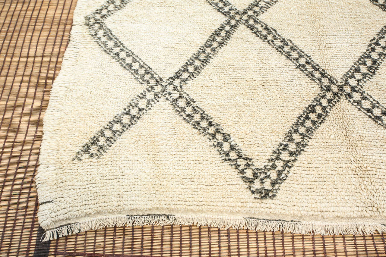 Moroccan Vintage Tribal Rug from Beni Ouarain 8