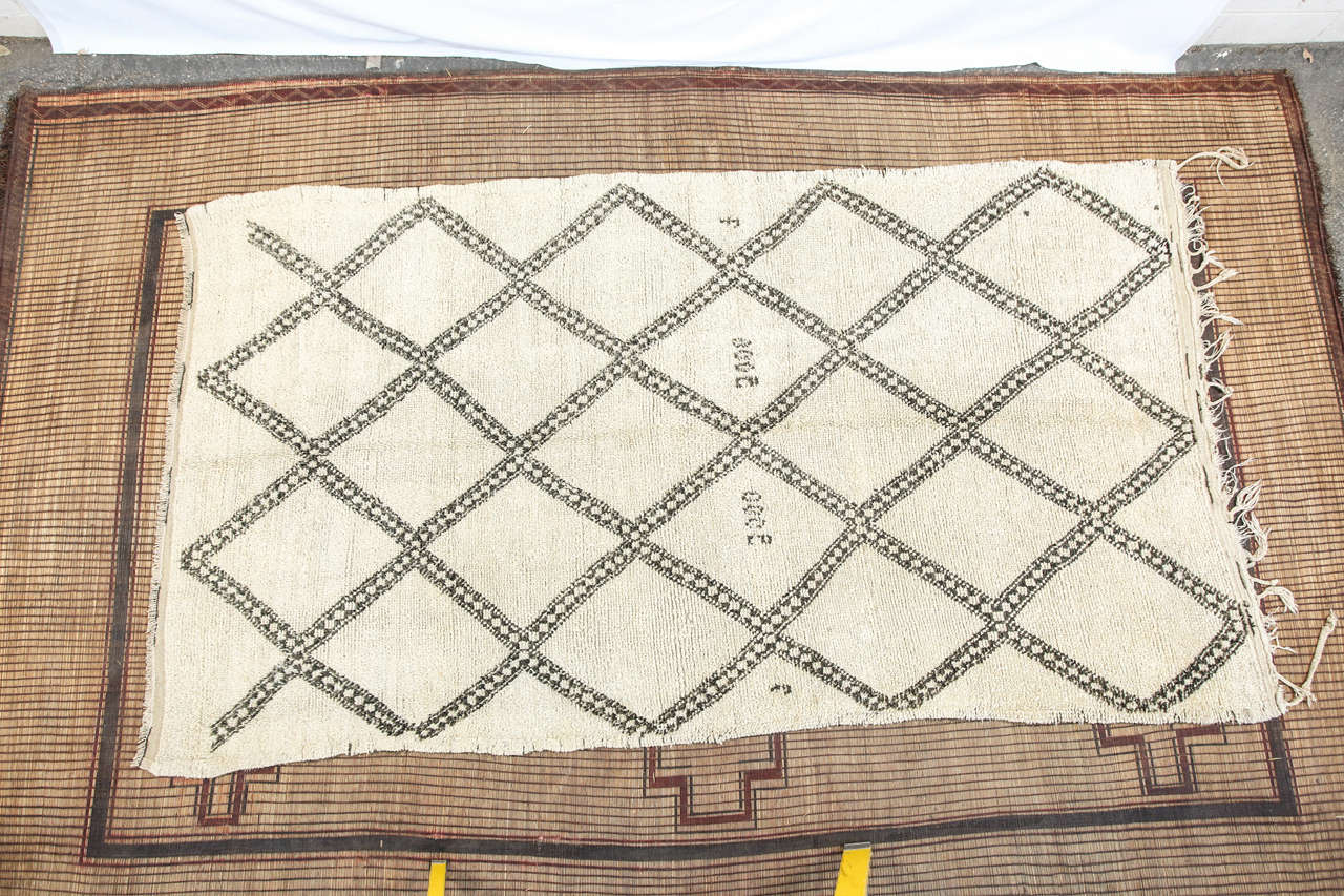 Moroccan Vintage Tribal Rug from Beni Ouarain 10