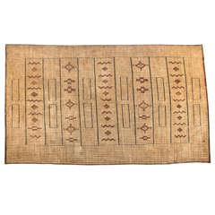 Vintage African Leather Tuareg Mat