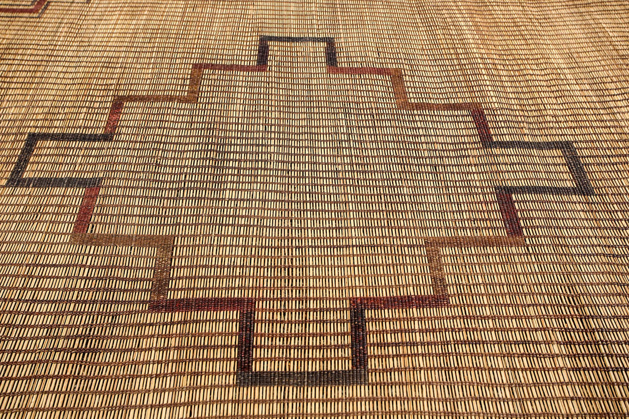 Hand-Crafted Moroccan Tribal Leather Rug