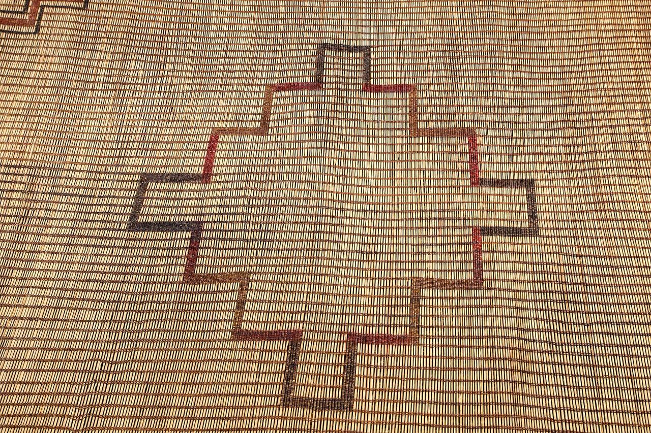 Palmwood Moroccan Tribal Leather Rug