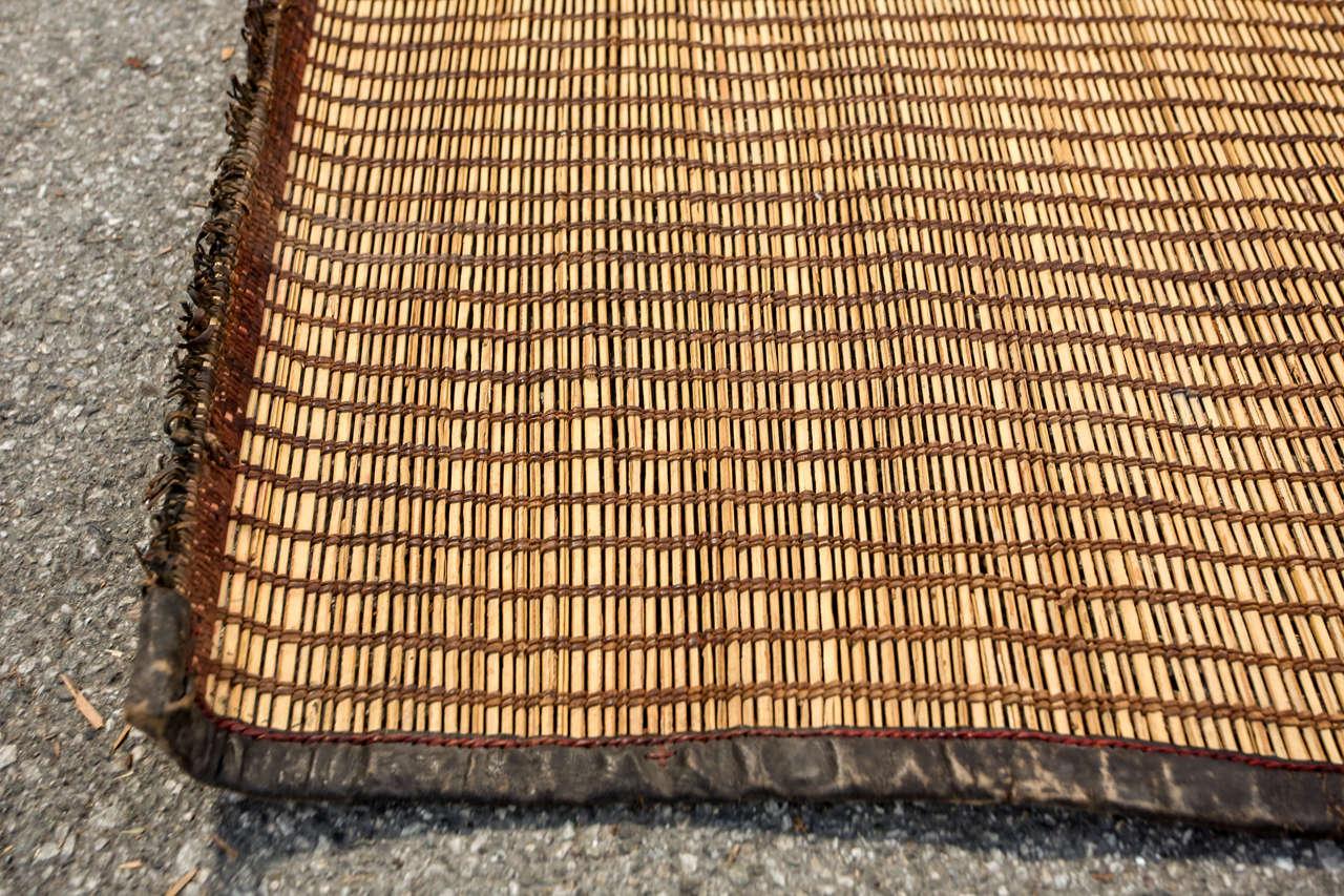 Moroccan Tribal Leather Rug 1