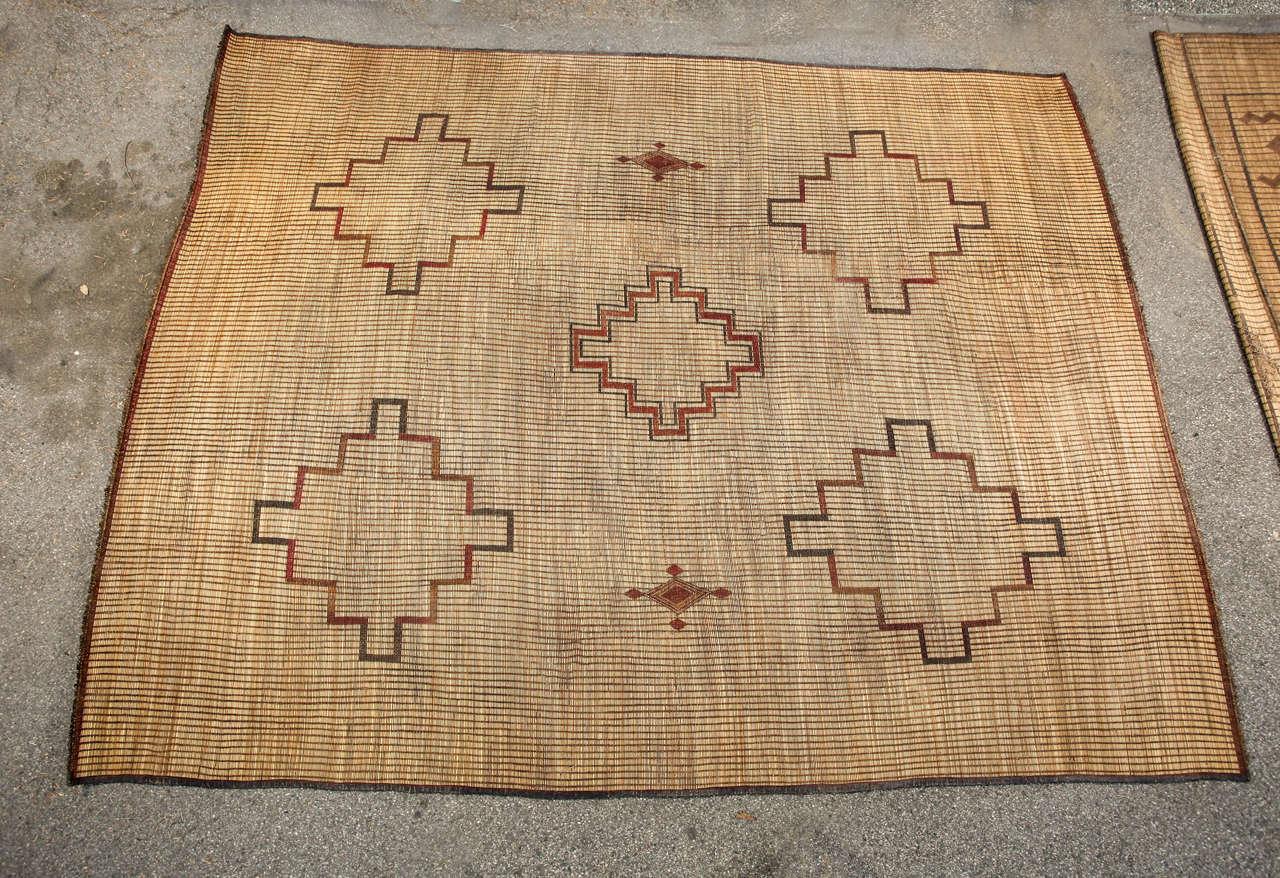 Moroccan Tribal Leather Rug 2