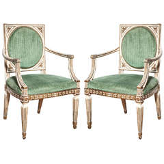 Pair of Late 18th Century Italian Armchairs